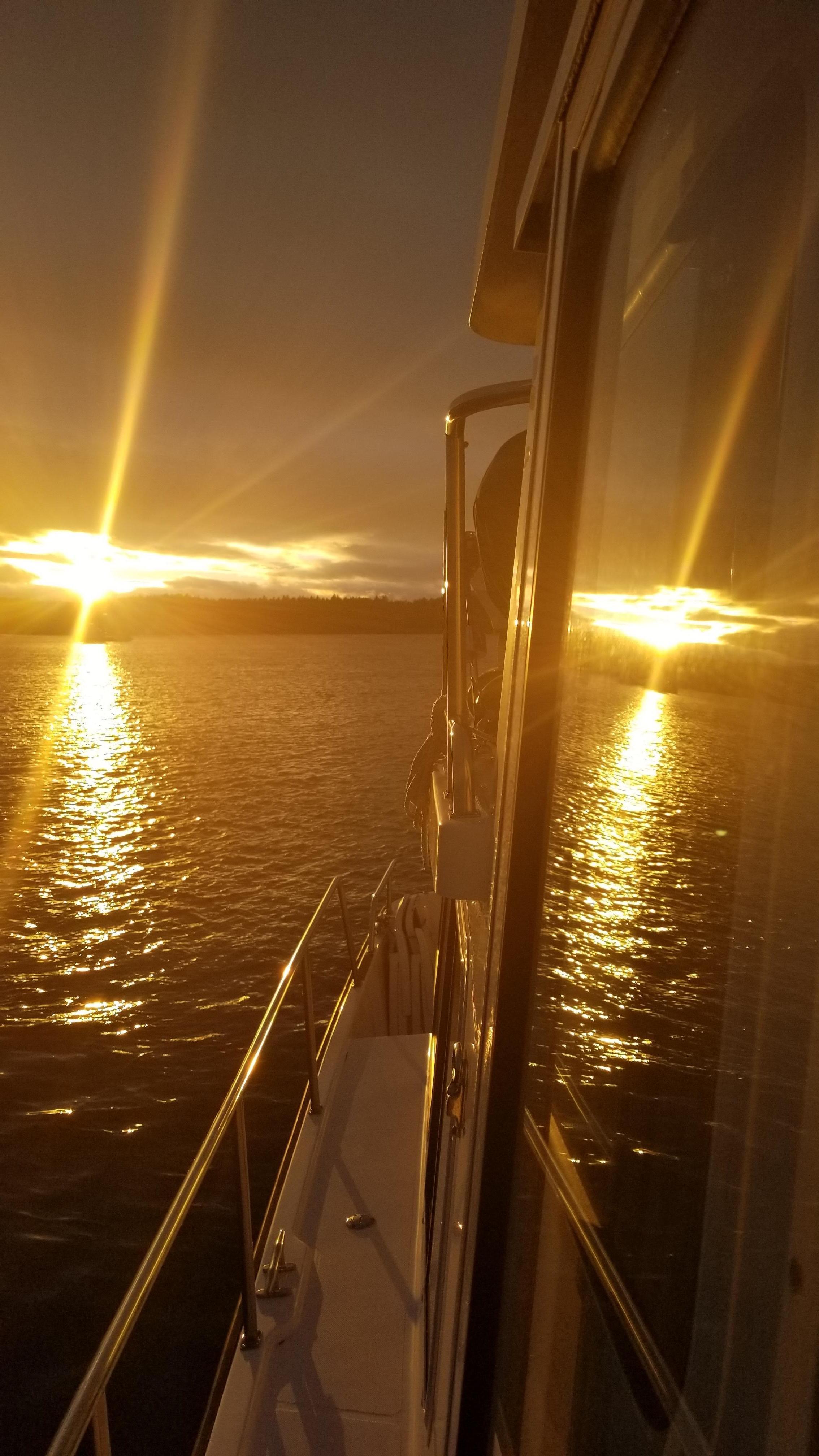 Golden Sunset Roche Harbor